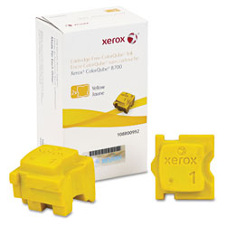Xerox 108R00992 Solid Ink Stick, 4200 Page-Yield, Yellow, 2/Box