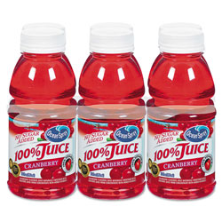 Ocean Spray 100% Juice, Cranberry, 10oz Bottle, 6/Pack