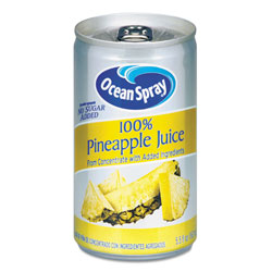 Ocean Spray 100% Juice, Pineapple, 5.5 oz Can