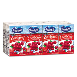 Ocean Spray Aseptic Juice Boxes, Cranberry, 4.2oz, 40/Carton