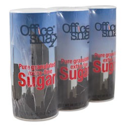 Office Snax Reclosable Canister of Sugar, 20 oz, 3/Pack