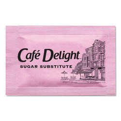 Cafe Delight Pink Sweetener Packets, 0.08 g Packet, 2000 Packets/Box