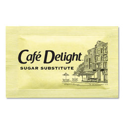 Cafe Delight Yellow Sweetener Packets, 0.08 g Packet, 2000 Packets/Box
