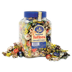 Office Snax Assorted Toffee, 2.75 lb Plastic Tub