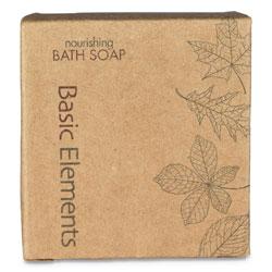 Basic Elements Bath Soap Bar, Clean Scent, 1.41 oz, 200/Carton