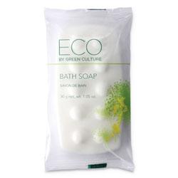 Eco By Green Culture Bath Massage Bar, Clean Scent, 1.06 oz, 300/Carton