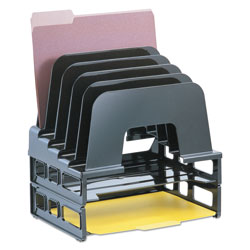 Officemate Incline Sorter, 5 Sections, Letter Size Files, 9.13 in x 13.5 in x 14 in, Black