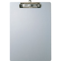 Officemate Aluminum Clipboard, Letter, 9 in x 12-1/2 in, Silver