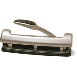 Officemate Adjustable 2/3 Hole Puncher w/ Lever Handle, 15 Sheet Capacity