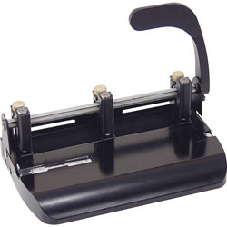 """Officemate 2 Hole Punch, 2 3/4"""" Center Holes, Punches 20 Sheets, Black"""