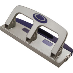 Officemate 3-hole Punch, 20-Sheet Cap, 9/32 in Holes, Metallic SR/BE