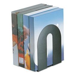 Officemate Heavy Duty Bookends, Nonskid, 8 in x 8 in x 10 in, Steel, Black