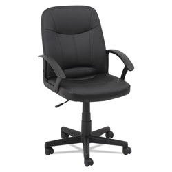 OIF Executive Office Chair, Supports up to 250 lbs., Black Seat/Black Back, Black Base