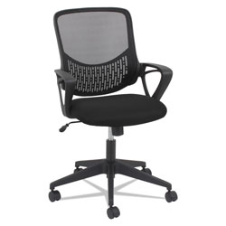 OIF Modern Mesh Task Chair, Supports up to 250 lbs., Black Seat/Black Back, Black Base