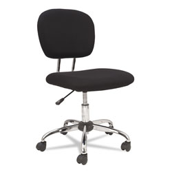 OIF Mesh Task Chair, Supports up to 250 lbs., Black Seat/Black Back, Chrome Base