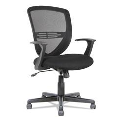 OIF Swivel/Tilt Mesh Mid-Back Task Chair, Supports up to 250 lbs., Black Seat/Black Back, Black Base