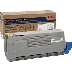 Okidata Toner Cartridge for C712, 11,500 Page Yield, Yellow