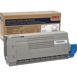 Okidata Toner Cartridge for C712, 11,500 Page Yield, Cyan
