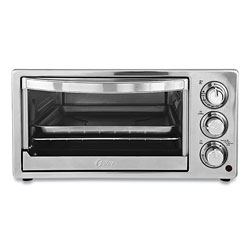 Oster Convection Toaster Oven, 6-Slice, 16.8 x 13.1 x 9, Stainless Steel/Black
