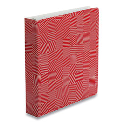 Oxford Punch Pop Fashion Binder, 3 Rings, 1.5 in Capacity, 11 x 8.5, Red/White Labyrinth Design