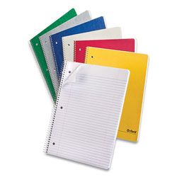 Oxford One-Subject Notebook, Medium/College Rule, Assorted Colors, 9 x 11, 100 Sheets, 6/Pack
