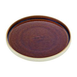 Bauscher Hepp Playground Nara Flat Round Plate, 10.6 in Brown