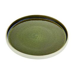 Bauscher Hepp Playground Nara Flat Round Plate, 10.6 in Olive