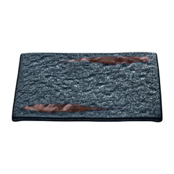 Bauscher Hepp Playground Lava Rectangular Platter, 9.5x6.7 in