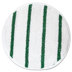 Rubbermaid Low Profile Scrub-Strip Carpet Bonnet, 17 in Diameter, White/Green