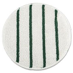 Rubbermaid Low Profile Scrub-Strip Carpet Bonnet, 21 in Diameter, White/Green