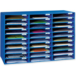 Pacon 1.75 in x 12.5 in x 10 in Mail Sorter - Blue