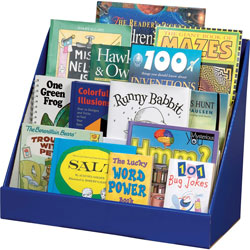 Pacon Book Shelf, Classroom Keeper, 3 Tiered, 17 in x 20 in x 10 in, Blue