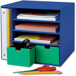 Pacon Classroom Keepers Management Center, Blue/Green