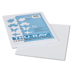 """Pacon Construction Paper, 9"""" x 12"""" Sheets, White"""