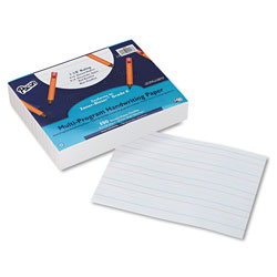 Pacon Multi-Program Handwriting Paper, 16 lb, 1 1/8 in Long Rule, One-Sided, 8 x 10.5, 500/Pack