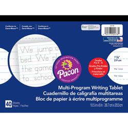 Pacon Multi-Program Handwriting Tablet, 8 in x 10-1/2 in, GK, 40Sheets, WE