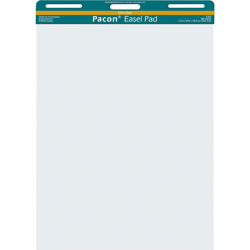 """Pacon Easel Pad, Perforated, Unruled, 27x34"""", 50 Sheets, White"""