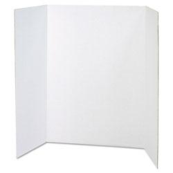 Pacon Spotlight Presentation Board, 48 x 36, White Front/Natural Kraft Back, 24/Carton