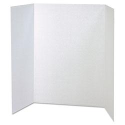 Pacon Spotlight Corrugated Presentation Display Boards, 48 x 36, White, 4/Carton