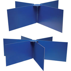 Pacon Round Table Privacy Boards, Blue