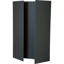 Pacon Tri-Fold Presentation Boards, 48 in x 36 in, Black