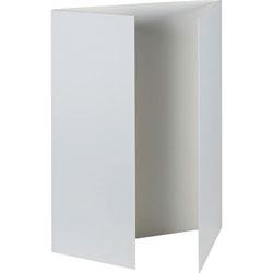 "Pacon Presentation Foam Board, Tri-fold, 48"" x 36"", White"