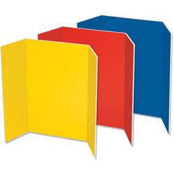 """Pacon Presentation Foam Board, Tri-fold, 48"""" x 36"""", Assorted"""
