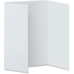 Pacon Fade Away Presentation Board, 1/2 in Grid, 20 in x 28 in, 5/CT, White