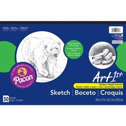 """Riverside Paper White Art 60 lb. Street Sketch Pad, 18"""" x 12"""""""