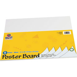 "Pacon White Poster Board, Recyclable, 11"" x 14"""