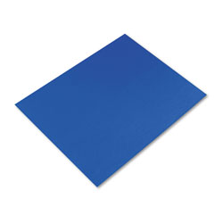 Pacon Peacock Four-Ply Railroad Board, 22 x 28, Dark Blue, 25/Carton