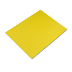 Pacon Peacock Four-Ply Railroad Board, 22 x 28, Lemon Yellow, 25/Carton