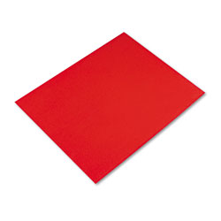 Pacon Colored Four-Ply Poster Board, 28 x 22, Red, 25 per Carton