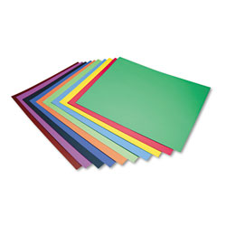 Pacon Peacock Four-Ply Railroad Board, 22 x 28, Assorted, 100/Carton